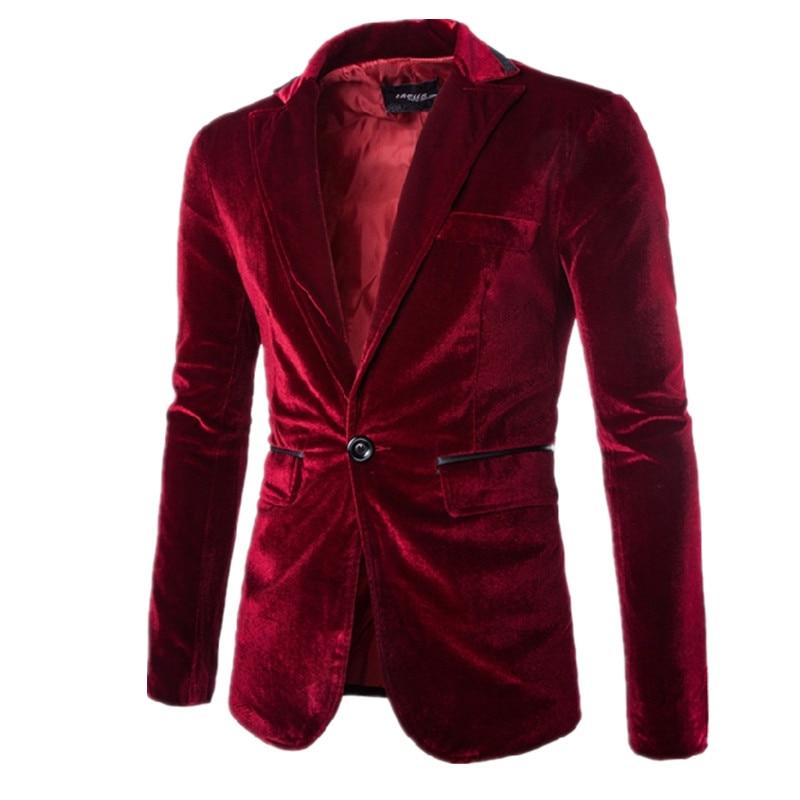 Nueva chaqueta de traje de franela de alta calidad para primavera para hombre, Blazers, caballero, informal, de ocio, para hombre, trajes de vestir negros morados para negocios rojos