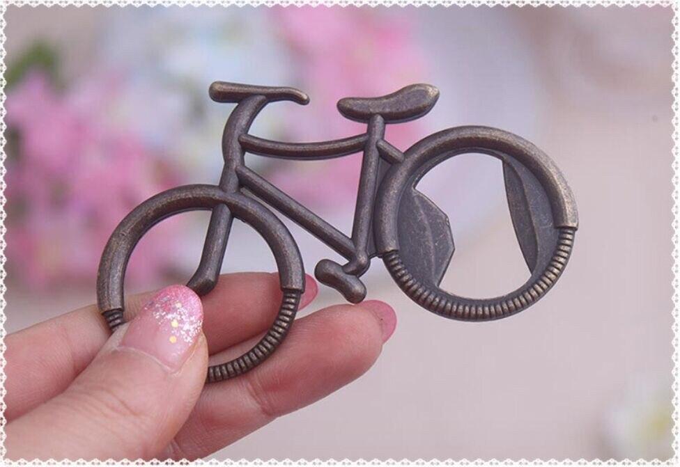 Abrebotellas de cerveza en forma de bicicleta de bronce, herramienta de aleación,...
