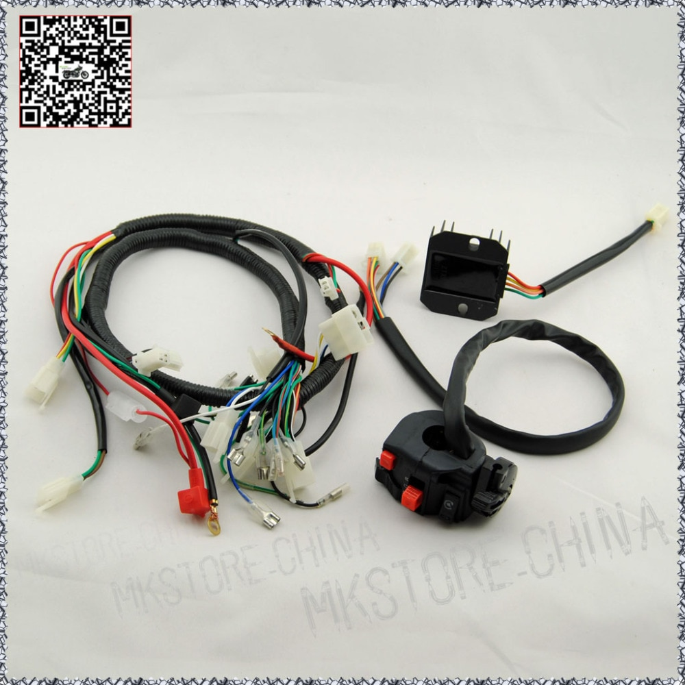 250cc + rectificador + arnés de cableado QUAD SWITCH 200 250cc arranque eléctrico chino Loncin zongshen ducar Lifan envío gratis