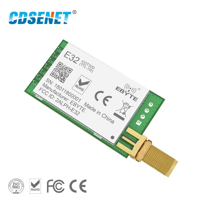 LoRa SX1278 SX1276 433MHz rf Module Transmitter Receiver 8000m E32-433T30D1B UART Long Range 433 MHz 1W Wireless rf Transceiver