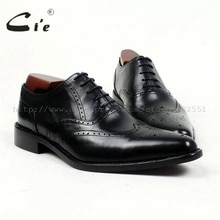 cie pointed toe genuine calf leather bespoke men shoe handmade men's full calf leather outsole classic men shoe black shoe ox417
