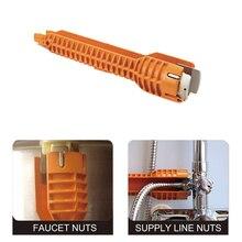 Robinet évier Installer clé anti-dérapant poignée Installer outil pour maison cuisine salle de bain trousse à outils clé pour éviers LB88