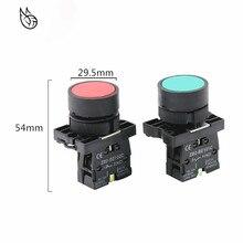 Interrupteur à bouton auto-réinitialisé 22mm   Démarrage XB2, bouton tactile plat de commutation