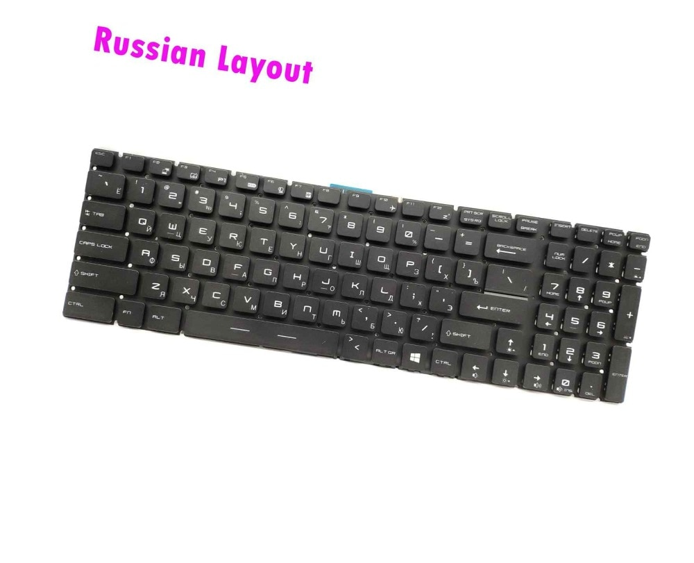 Nuevo Teclado retroiluminado RGB ruso para MSI Gaming GS70 2QC GS70 2QE/GS70 2PE/GS70 6QE Stealth Pro (RU7037)