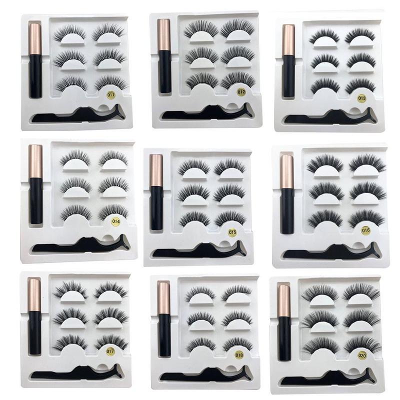 5d магнитные ресницы, искусственные норковые магнитные ресницы для наращивания, жидкая подводка для глаз, магнитные накладные ресницы и пин...