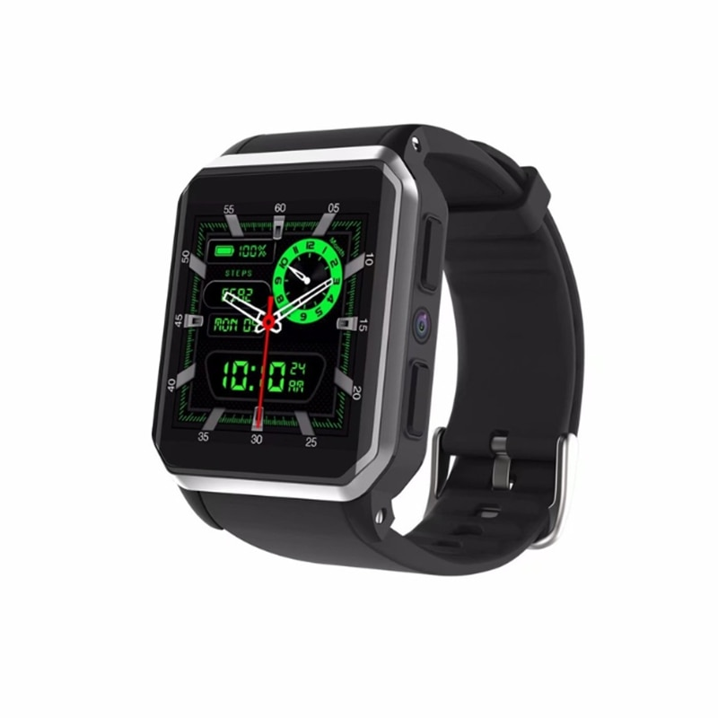 New Style KW06 Wristwatch 1.54 Inch MTK6580 Quad Core 1.3GHZ Android 5.1 3G Smart Watch 460mAh 0.3 Mega Pixel Heart Rate Monitor