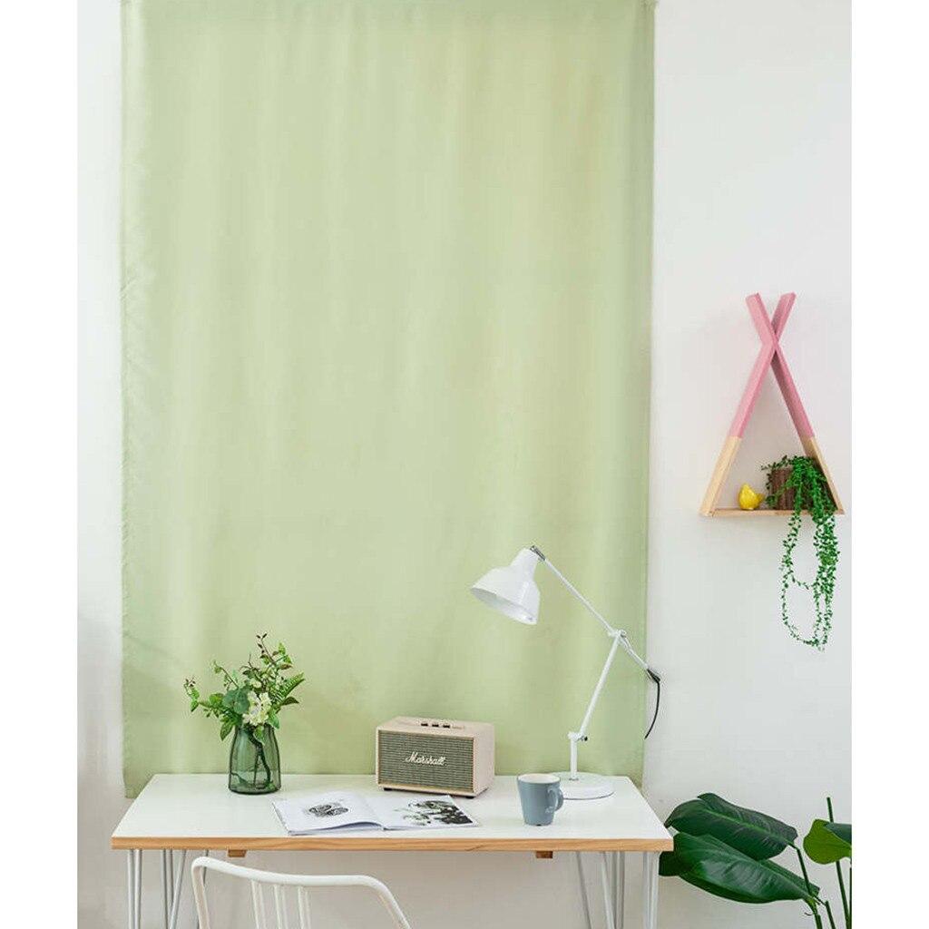 Cortina opaca Simple de color verde menta para ventana cortinas de poliéster de doble cara tamaño completo para el hogar Oficina café cortinas duraderas 1 ud.
