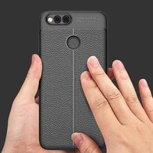 Etui arrière de téléphone souple YUETUO de luxe en ptu, coque, housse, étui pour huawei honor 7x7 x silicone silicone accessoires dorigine protecteur