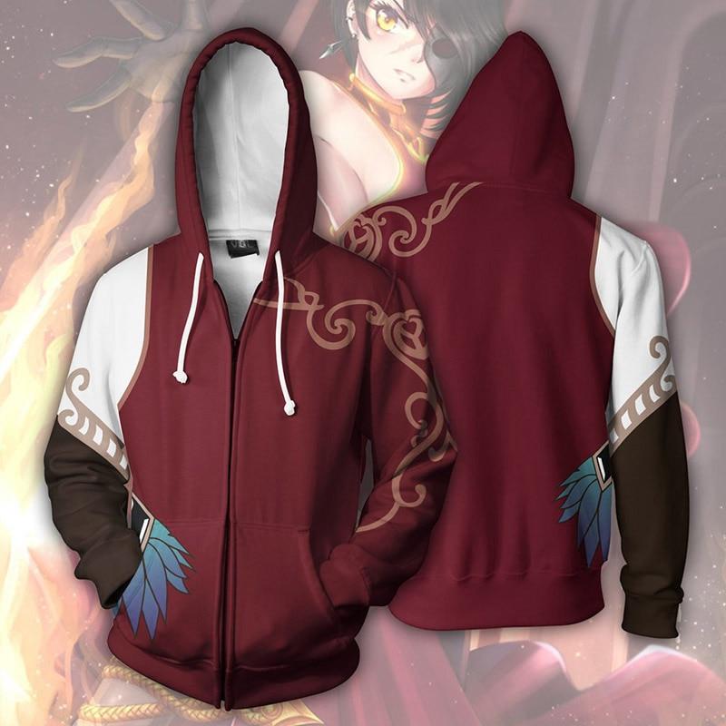 Nuevas sudaderas Cosplay 2019 Rwby de protección de animación para hombre y mujer, ropa gruesa de protección 3D con cremallera, chaqueta blanca y roja oscura, sudaderas con capucha