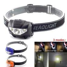 Mini lampe frontale de phare de LED de puissance élevée AAA batterie petite lampe principale de lumière torches lanterne de phare pour le camping