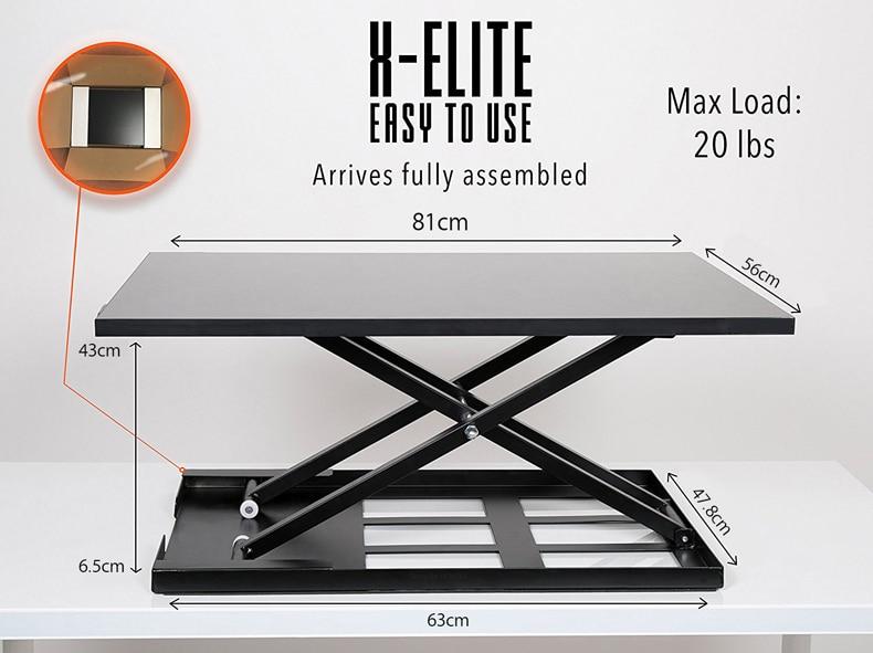 Hyvarwey-حامل شاشة MD01 مقاس 81 × 56 سنتيمتر ، ليتم تجميعه بالكامل ، سطح المكتب والكمبيوتر المحمول ، سهل الارتفاع وقابل للتعديل