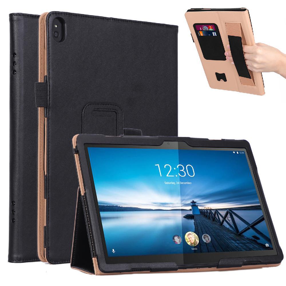 Studyset para Lenovo M10 TB-X605F/Lenovo P10 TB-X705F, funda protectora de piel sintética Retro, funda para Tablet