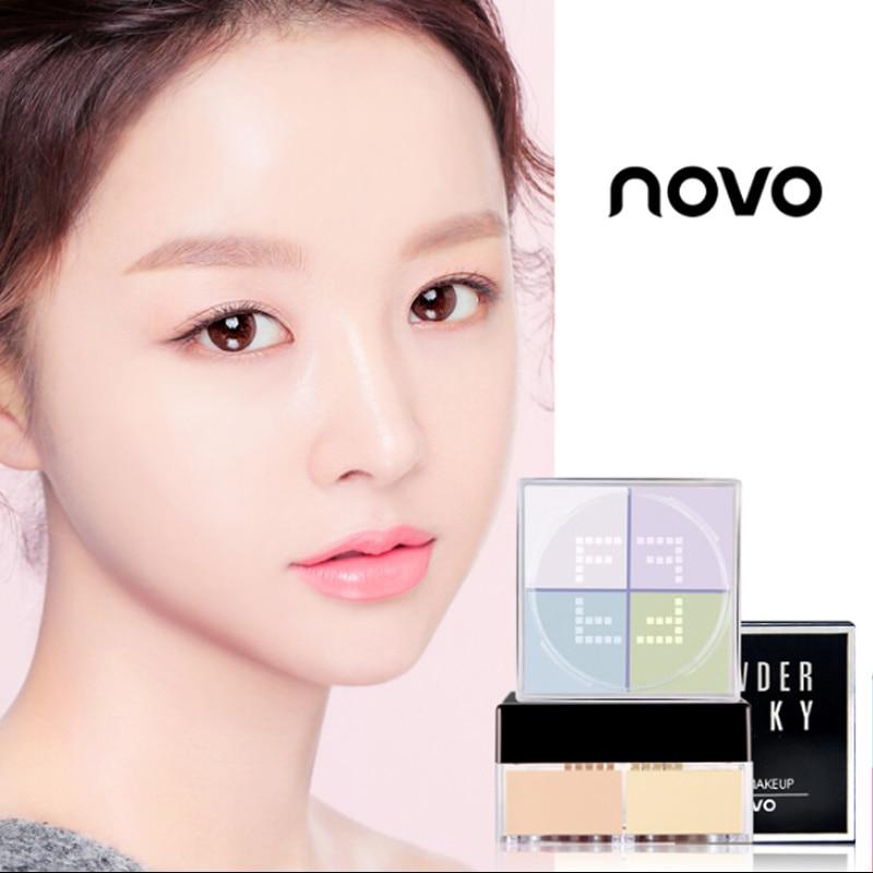Cross border make-up Fixed makeup powder 12g Four-Dispersion Powder Makeup Fixing Powder Oil Control and Moisture Maintenance