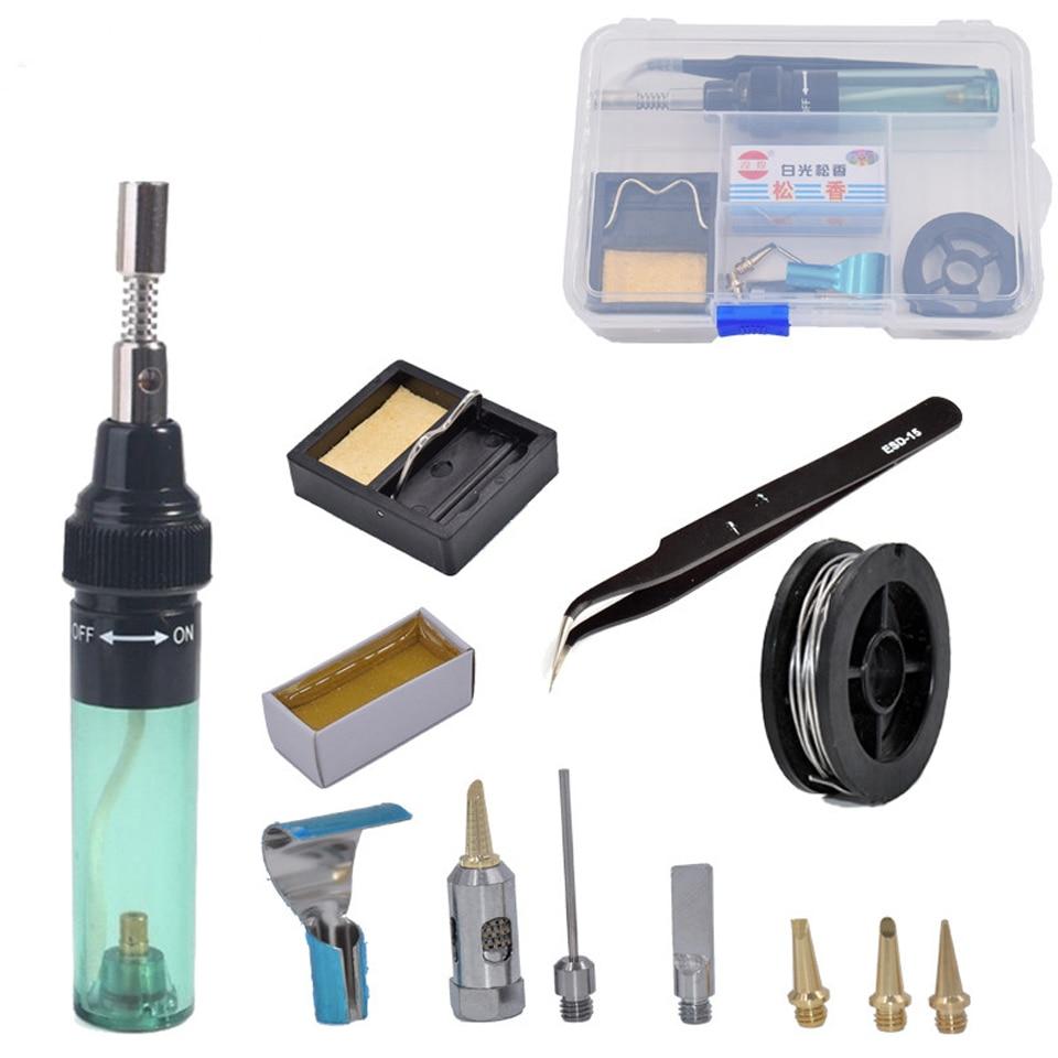 Saldatore a gas butano a forma di penna cordless fai da te pistola a gas butano torcia strumento di saldatura portatile torcia per saldatura esterna