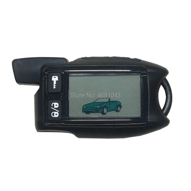 TW-9.5 LCD Remote Control Keychain for Russian Version Tomahawk 9.5 9.9 two way car alarm system Fob