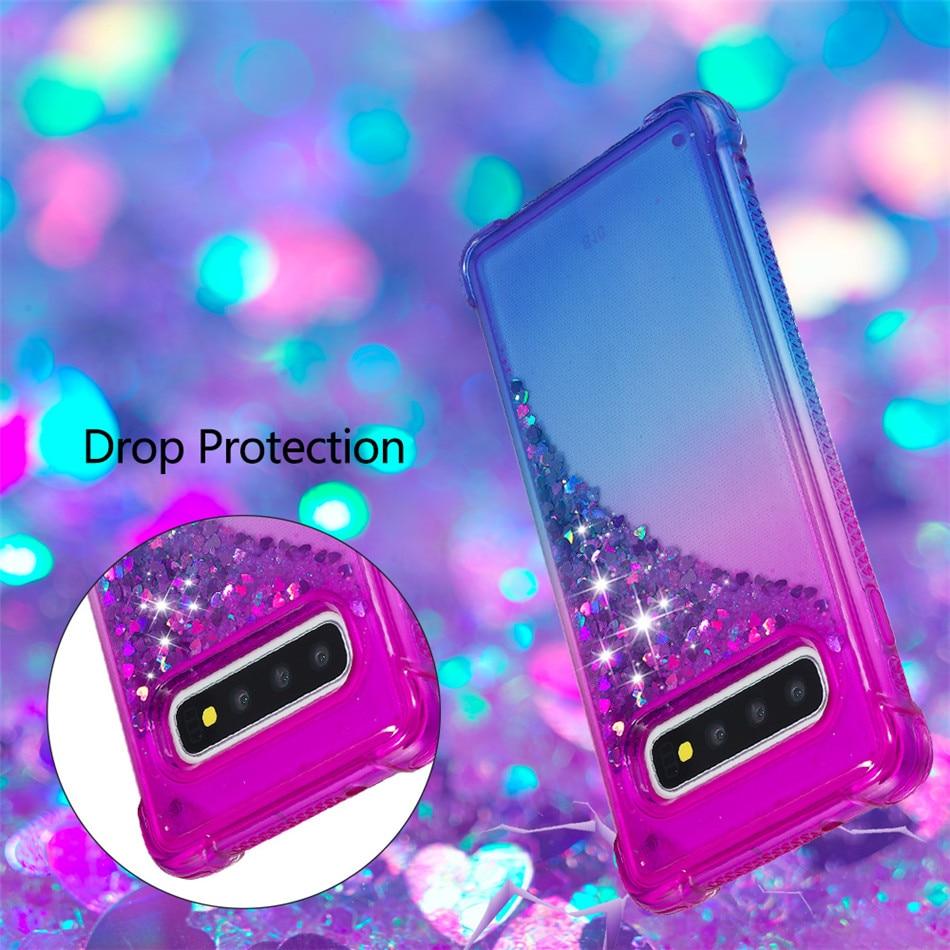 Case For Samsung Galaxy A10 M10 M20 S10E S10 S9 S8 j3 j7 A7 A9 j4 j6 Plus 2018 Bling Glitter Quicksand Silicone Phone Cover E03E