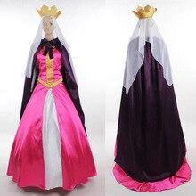 Dormir beauté Cosplay reine léa Costume robe adulte Halloween carnaval Cosplay Costume