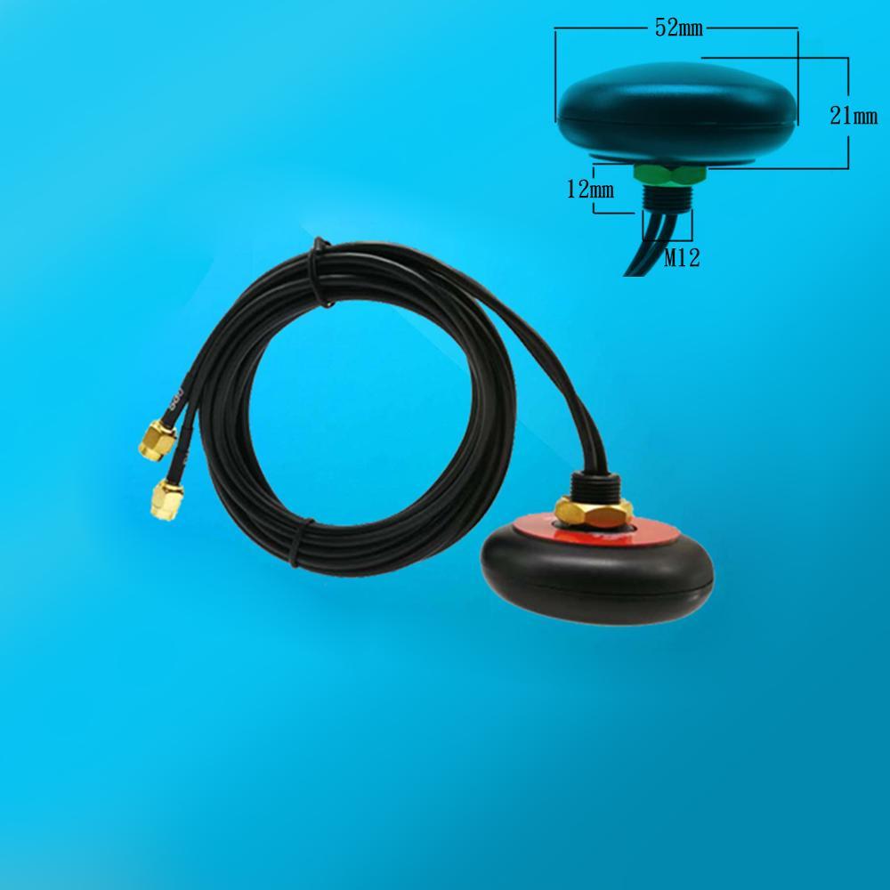 Combinado UFO antena GPS ativa + 4G/cabo de extensão SMA conector macho GSM antena com porca