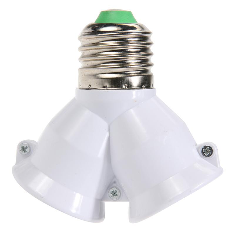 2 em 1 e27 base da lâmpada à prova de fogo material titular conversor soquete 2e27 y forma divisor adaptador de luz lâmpada base suporte