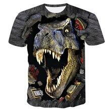 2019 nouvelle marque été dinosaure 3D animal imprimé T-shirt hommes à manches courtes T-shirt S-4XL grande taille hauts & t-shirts