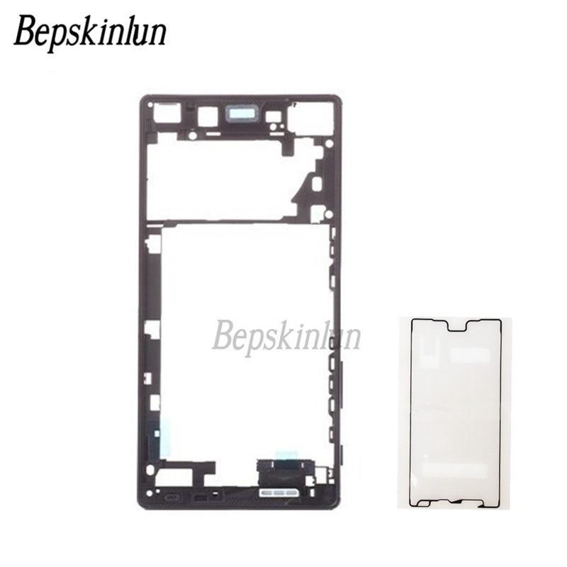Bepskinlun Original pour Sony Xperia Z5 Premium double SIM milieu cadre boîtier pièce de rechange + adhésif cadre autocollant