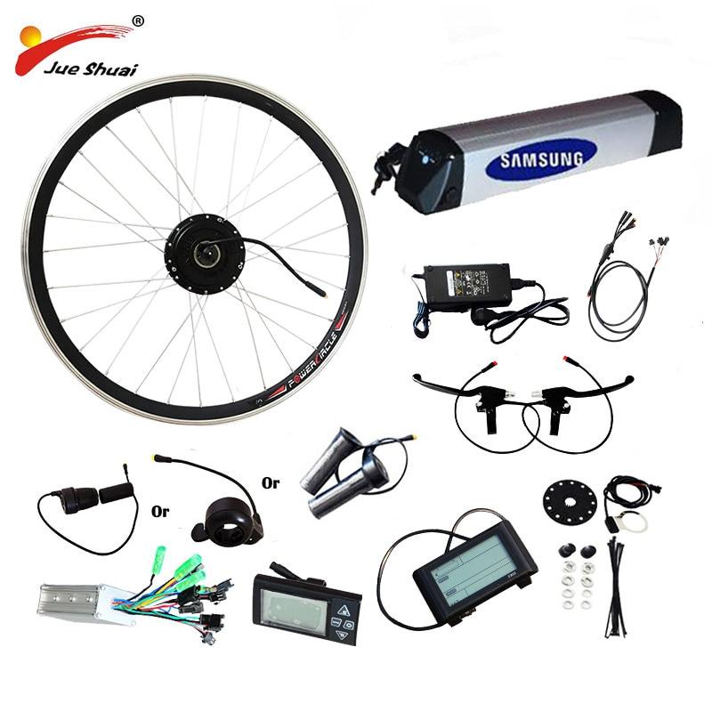 36V 250W-500W eBike Kit de conversión de bicicleta eléctrica 36V10AH/12AH batería de...