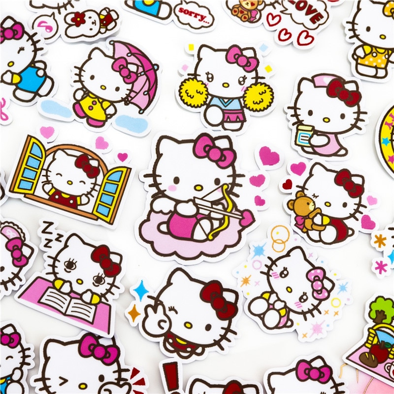 40-unids-pack-creativo-kawaii-hecho-gato-pegatinas-de-la-etiqueta-engomada-diy-album-de-fotos