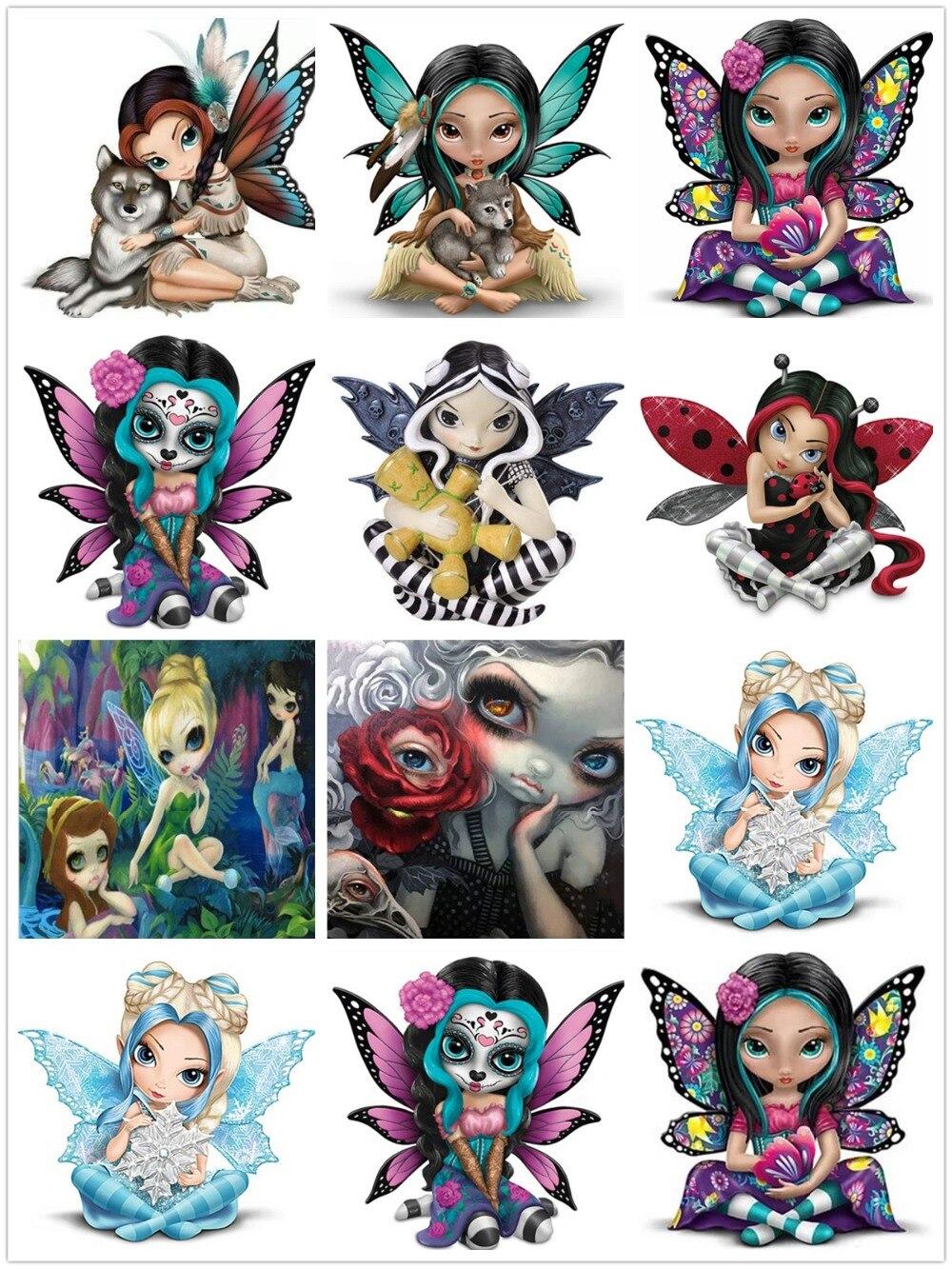 Cuadro de mosaico de diamantes de imitación 5D con dibujo de ojo grande para chica, conjunto completo de cuadros de diamantes de imitación 5D