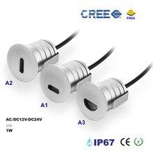 Offre spéciale 1W lampe de marche LED étanche IP67 paysage escalier plancher Conner spot DC12-24V éclairage extérieur 8pc