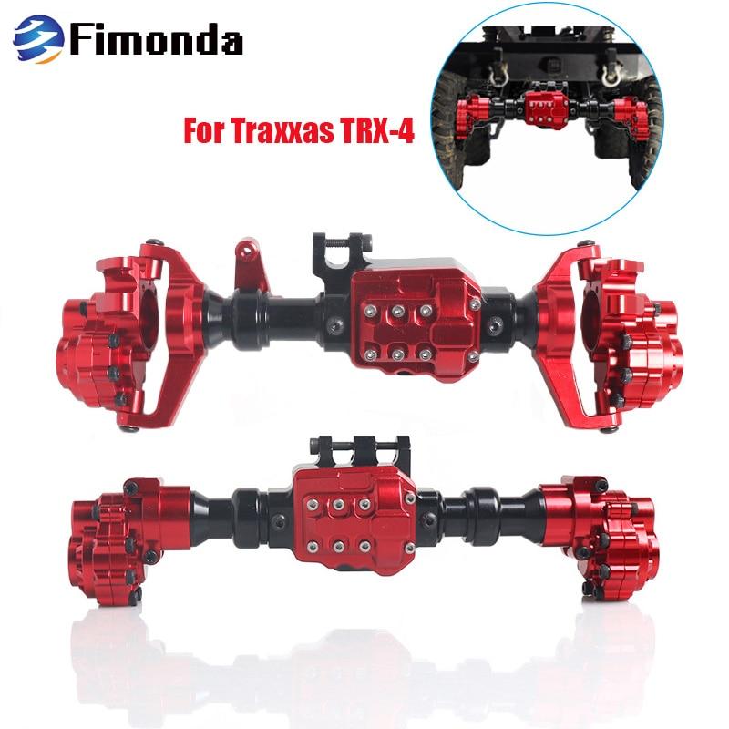 TRX4 Aluminum Portal Axle Housing for 1/10 RC Crawler Traxxas TRX-4 Defender Bronco G500 Chevrolet Metal Upgrade Parts