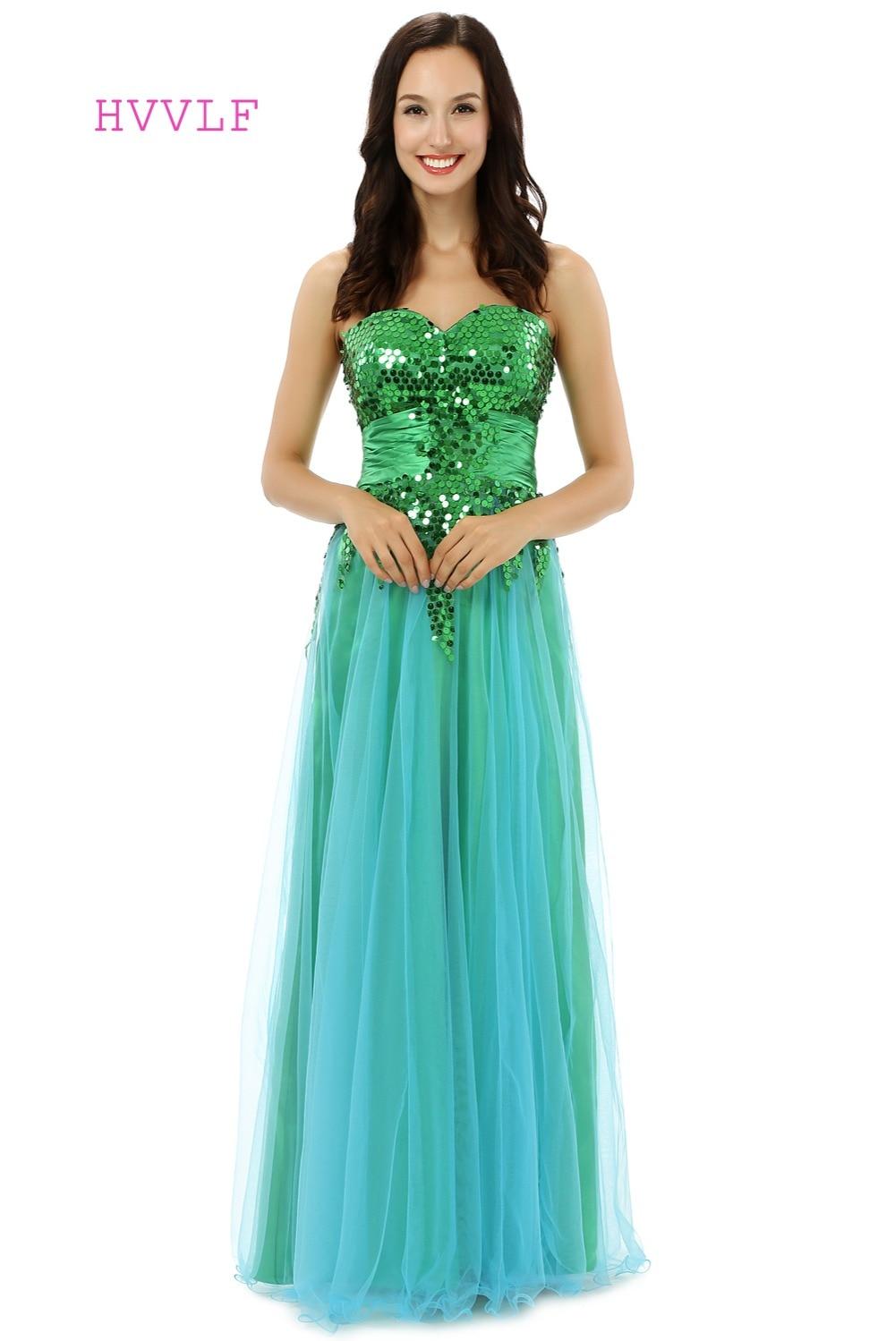 Verde Robe De Soirée 2019 A-line Querida Pavimento Length Tulle Mulheres Long Prom Vestidos de Noite do Baile de finalistas Vestido de Lantejoulas Brilham