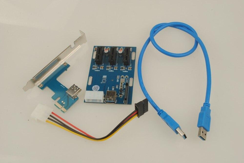Soupei-Tarjeta elevadora PCIe 1 a 3, PCI express, 1X ranuras, Mini ITX...