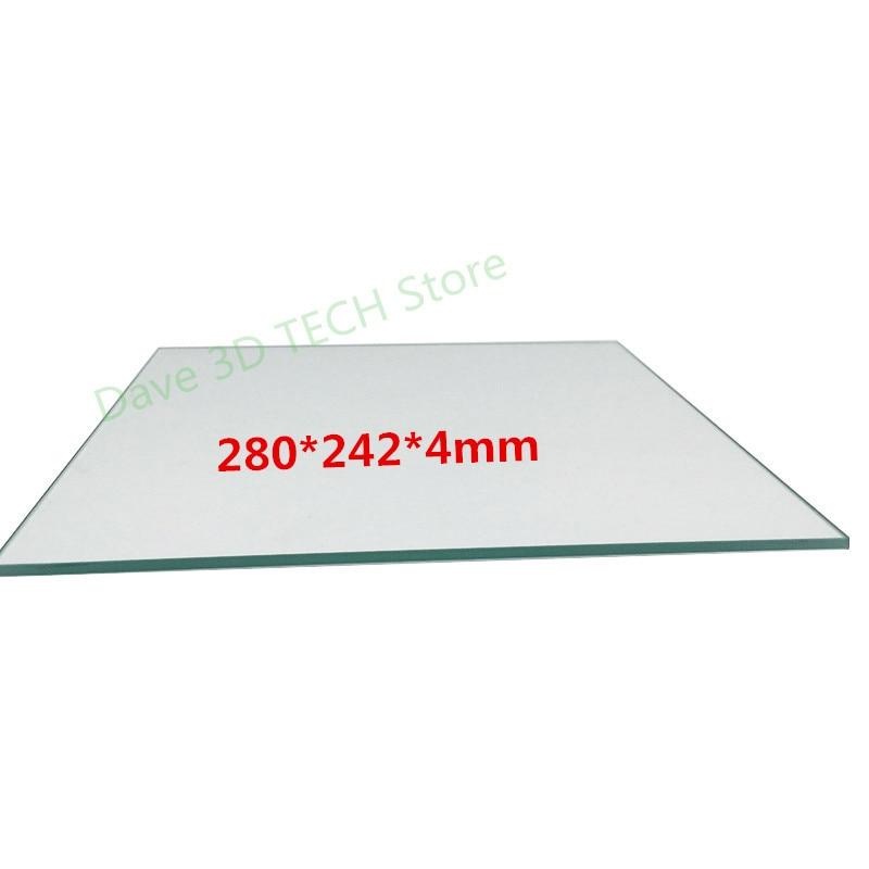 280x242x4 мм 3D принтер 100% боросиликатное стекло пластина для DIY Flyingbear P905X 3D принтер сборка пластины