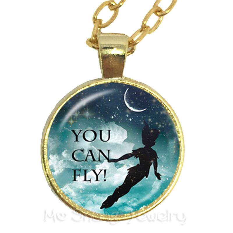 Collar gargantilla regalo con mosca de cristal para estudiantes/amigos, motivando a gente famosa aphorismo, frase personal
