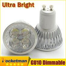 1 piezas Super brillante 15 W 12 W 9 W GU10 bombillas LED luz 110 V 220 V Led regulable focos caliente/blanco frío base GU 10 LED downlight