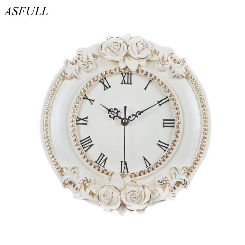 ASFULL de un creativo Reloj de pared Decorativo Europeo habitación silenciosa Hotel Relais DellOrologio reloj para restaurante saat envío gratis