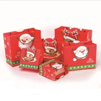 10pcslot exquisite holiday paper handbags christmas candy gift bag merry christmas party decoration supplies
