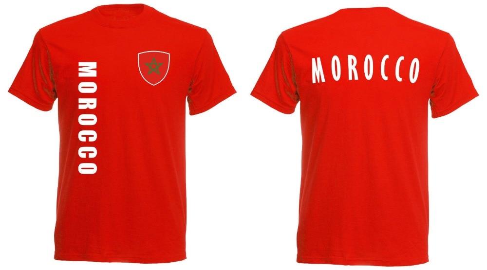 Marokko T-Shirt Männer Fußballer Legende Soccers Jersey 2019 Heißer Verkauf Super Mode Sommer Casual Mann Gute Qualität T Shirt Online