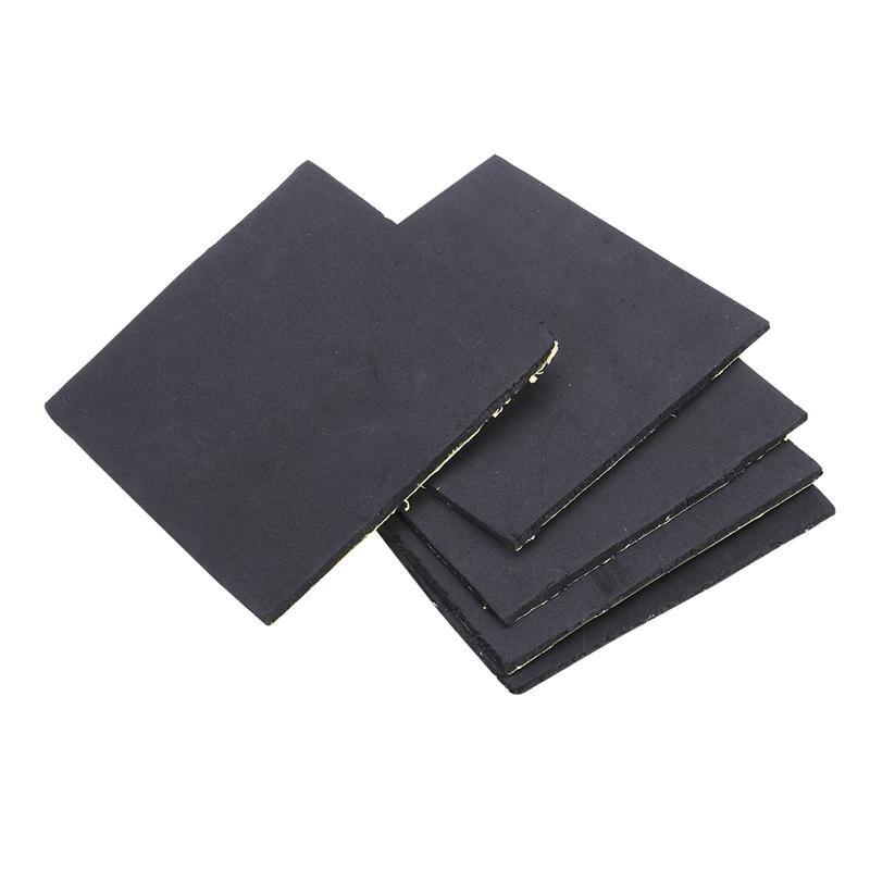 5 Pcs Esponja de Espuma De Borracha De Neoprene Almofadas Anti-Vibração Vibração Isolamento Mats 150x150x5mm (preto)