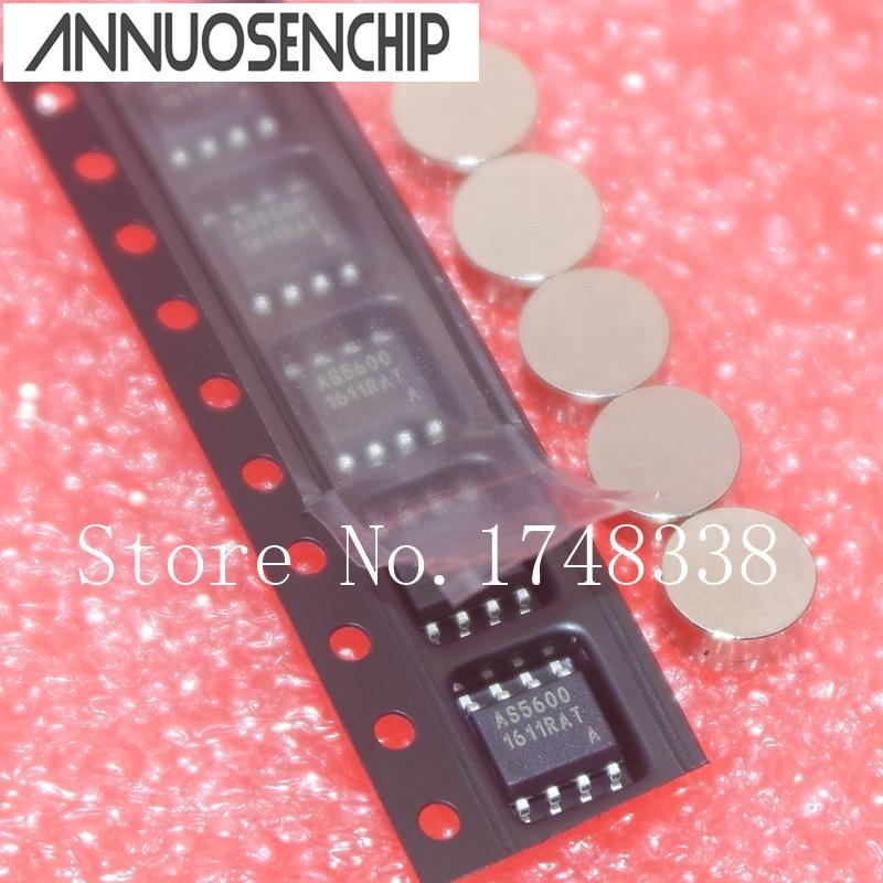 משלוח חינם 10 יחידות AS5600-ASOM מקודד מגנטי עם מגנט AS5600 SOP8 המקורי חדש