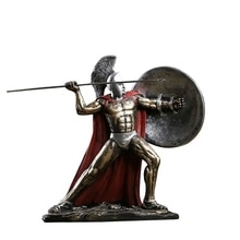 Figura decorativa de la antigua Roma, figura de personaje espartano, modelo de resina del héroe Esparta, sala de estar, figura de Guerrero espartano, regalo decorativo