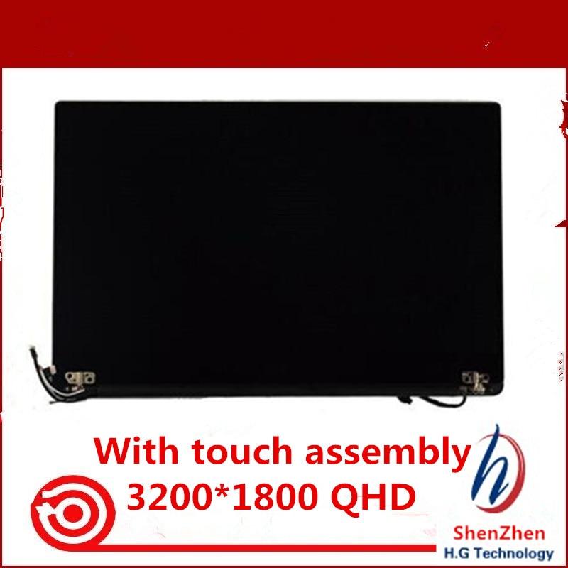 شاشة LCD أصلية مقاس 13.3 بوصة لجهاز Dell XPS 13 9350 ، تجميع QHD ، مع محول رقمي يعمل باللمس ، 3200 × 1800