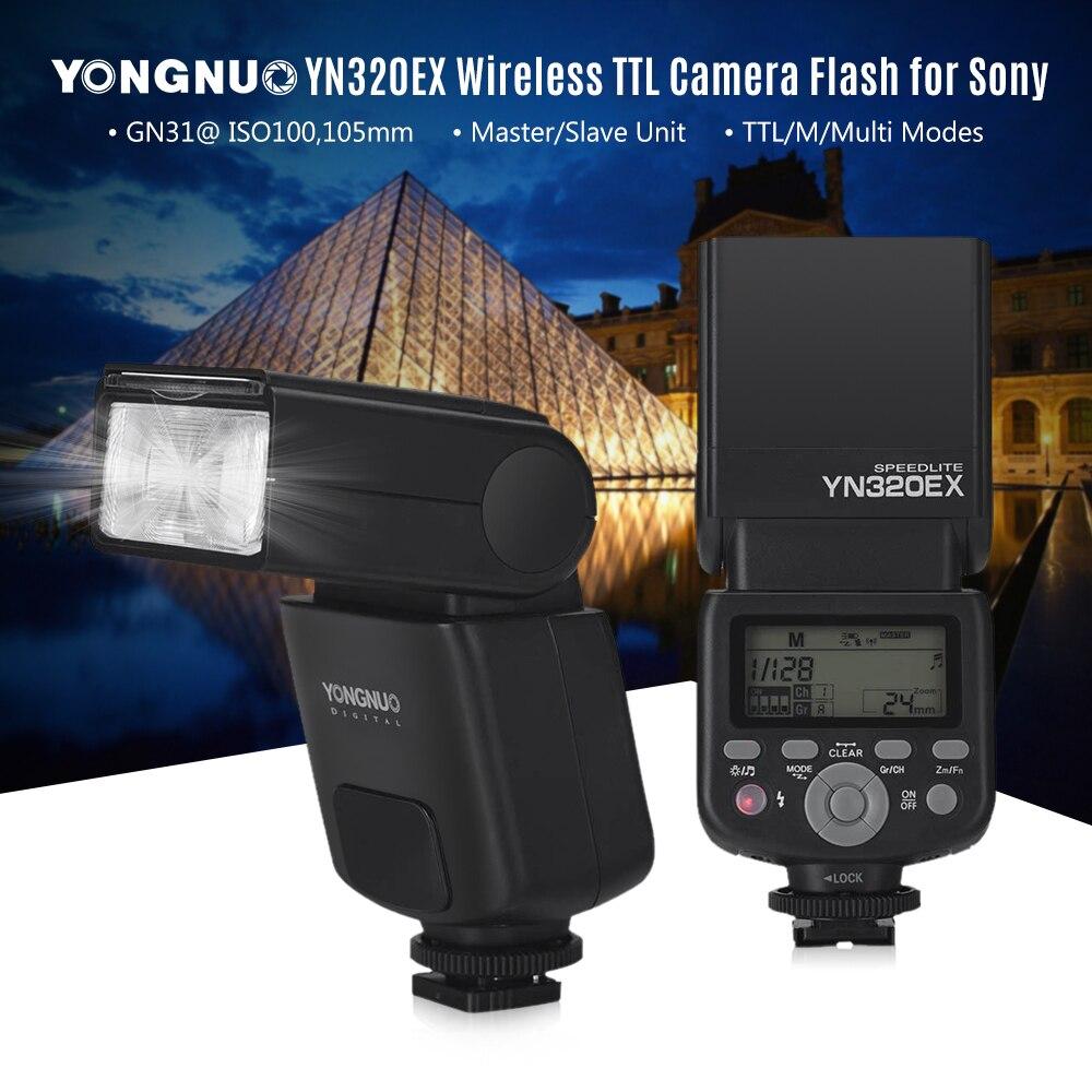 YONGNUO YN320EX Wireless TTL Camera Flash Master Slave Speedlite 1/8000s HSS GN31 5600K for Sony A7/A99/A77 II/A6000/A6300/A6500