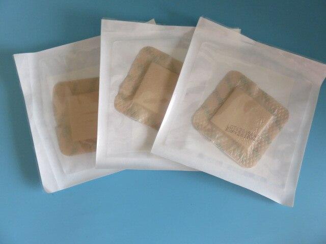 Apósito de espuma de gel de silicona médico para prevención de dolor de cama, pasta autoadhesiva para heridas 10 Uds. 7,5*7,5 (4,5*4,5) CM 3mm