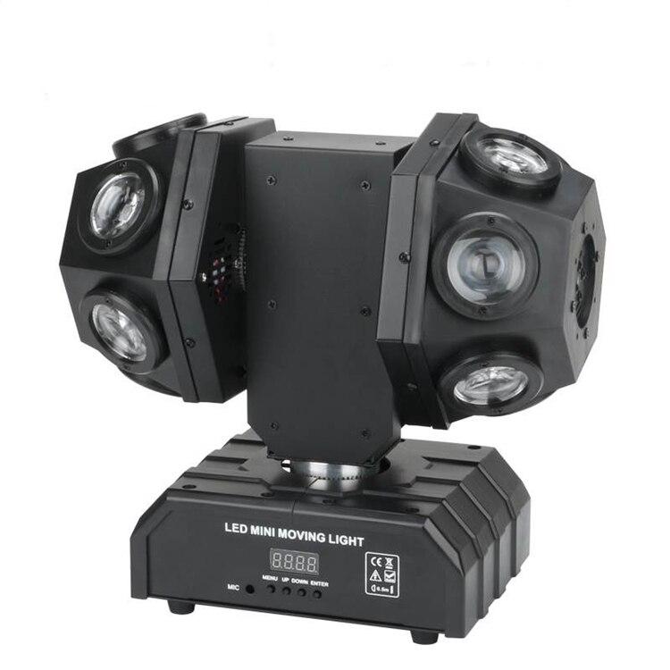 New LED 12 Double Arm moving Head lights 12*10W Strobe Beam Light Bar KTV Room Wedding Stage Lighting