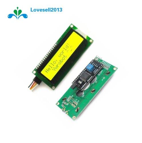 Желтый дисплей IIC I2C TWI SP I серийный интерфейс 1602 16X2 ЖК-модуль Новый