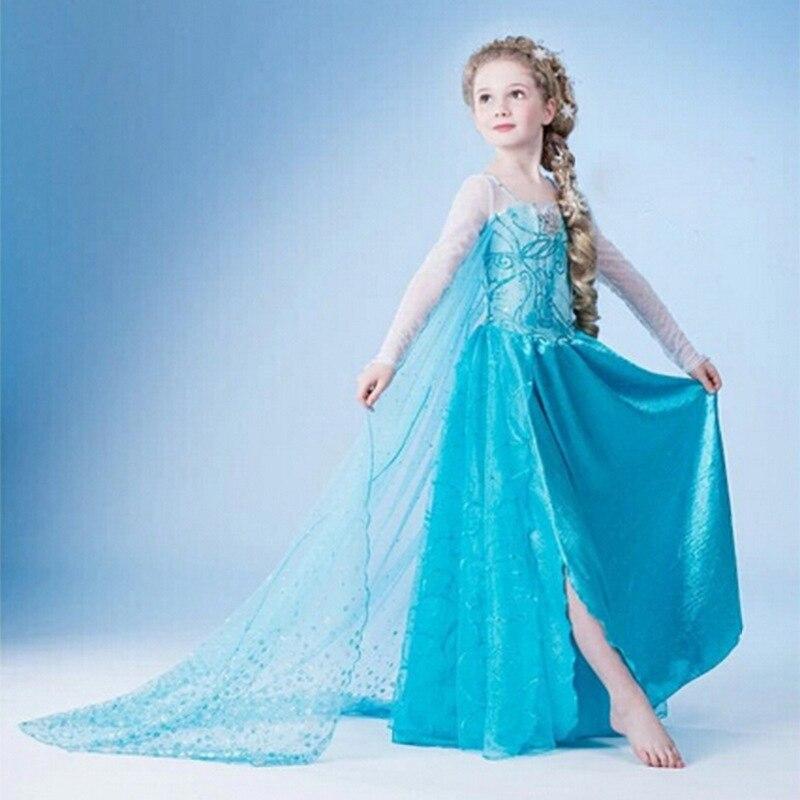 Vestido de Halloween niña princesa disfraz snow queen Cosplay niños ropa bebé niños fantasía infantil Elsa vestido vestidos