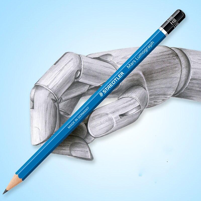 STAEDTLER, de Alemania, n. ° 100, lápiz estándar de barra azul, lápiz de bocetos de dibujo profesional, lápiz lumográfico de mars, 12 unidades/lote