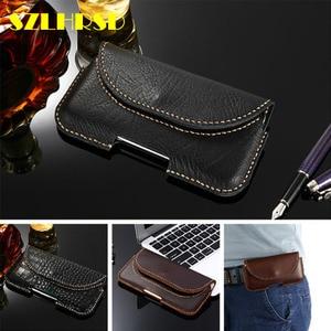 SZLHRSD for ASUS ZenFone Max M1 ZB555KL Handmade Case Genuine Leather Holster Belt Clip Phone Cover Waist Bag