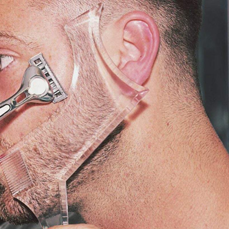 Plantilla para dar forma a la barba, 1 unidad de hombre, Barba, peine para estilismo, Barba, ribete, guía de afeitado, herramienta de maquillaje de belleza, regalo